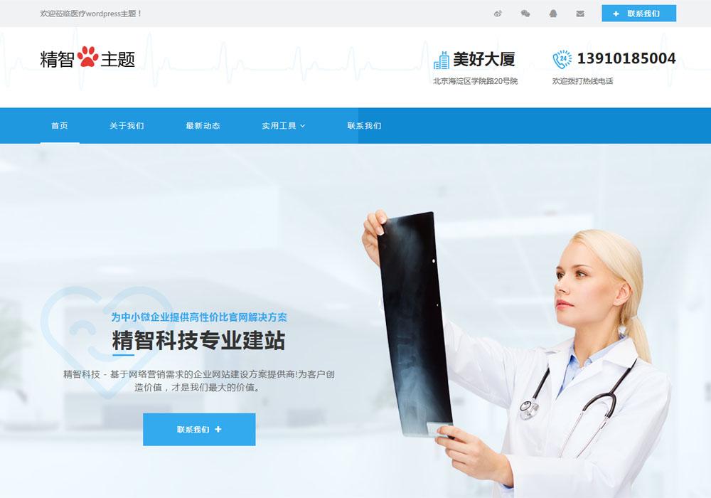 医疗医药行业公司网站wordpress主题