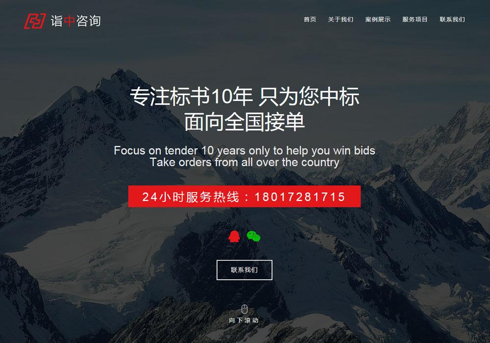 红色商务咨询公司wordpress主题模板