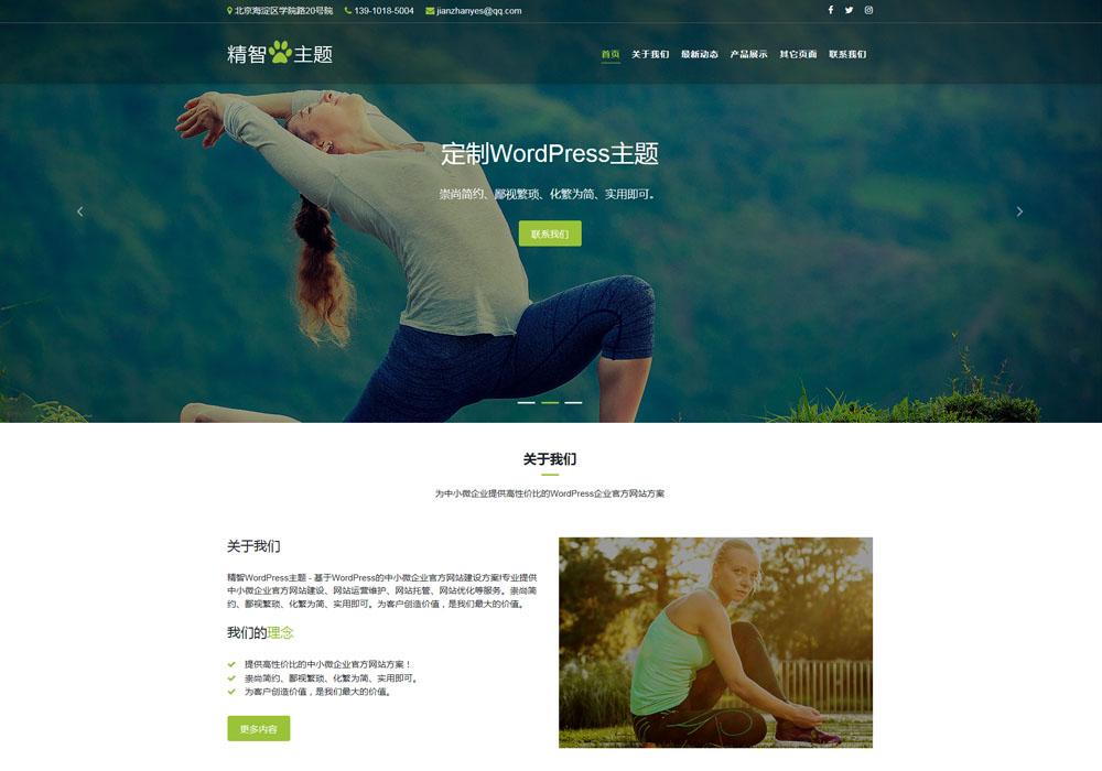 健康公司WordPress主题