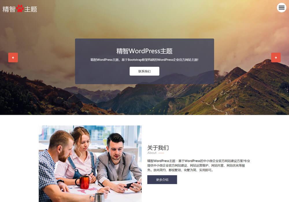wordpress广告公司主题